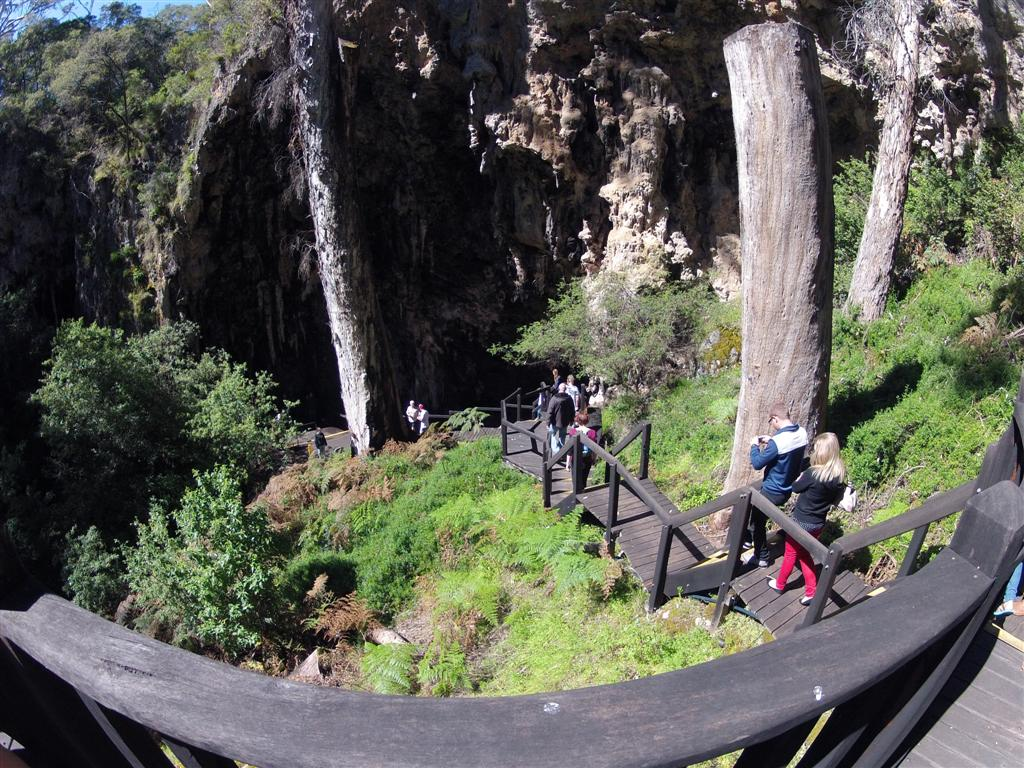 Heading into Lake Cave in Margaret River