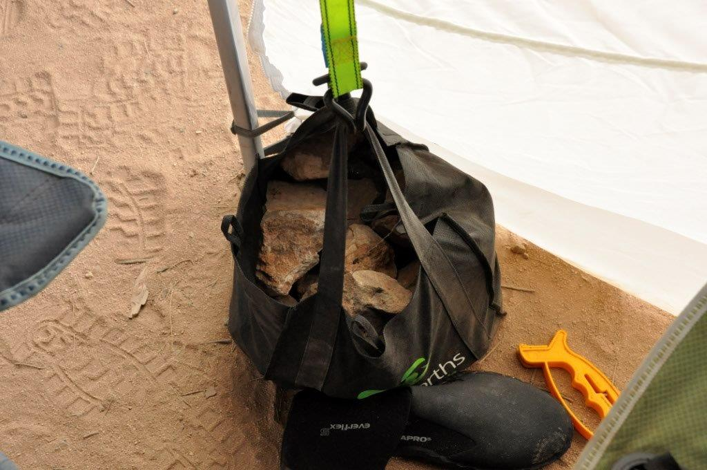 A Bag of Rocks to Hold the Awning Down