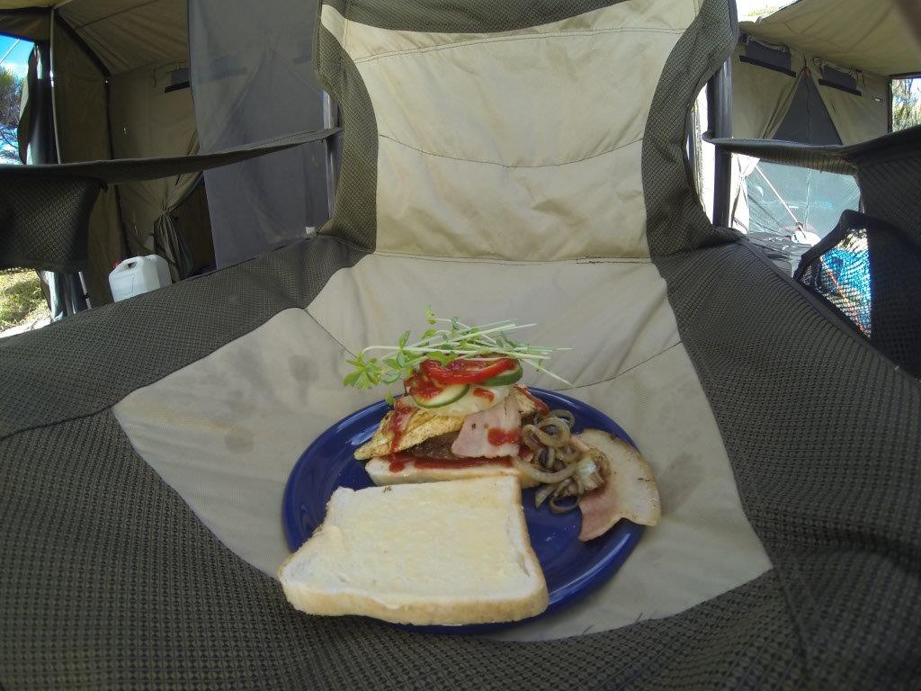 A Cracker Camping Lunch