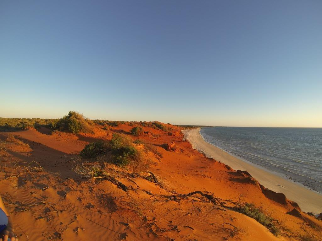 Amazing Red Dunes at Shark Bay