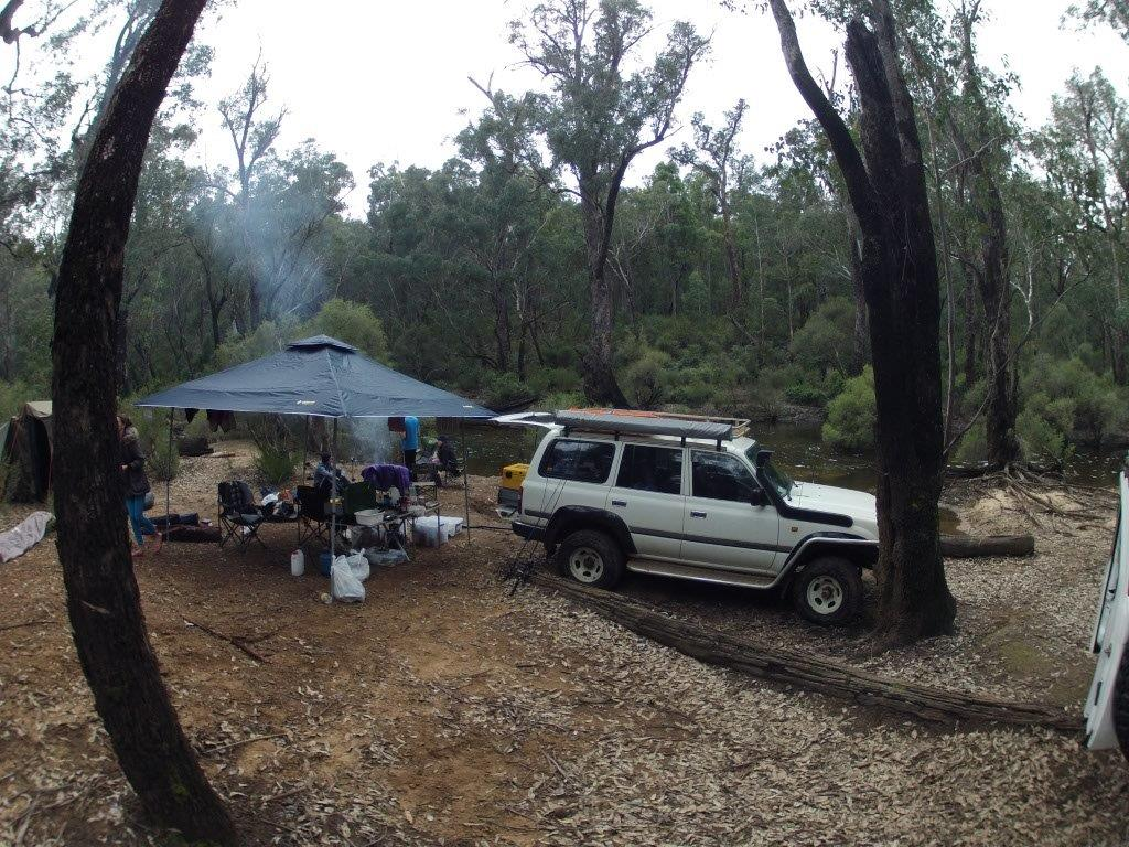 Camped on the Captain Fawcett Track