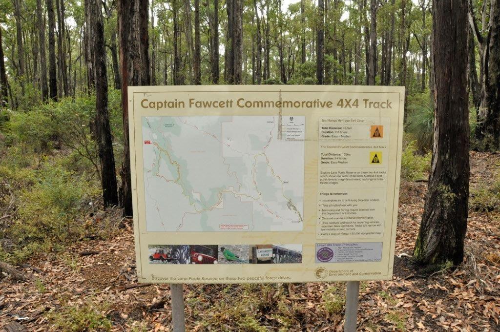 Captain Fawcett Track Map