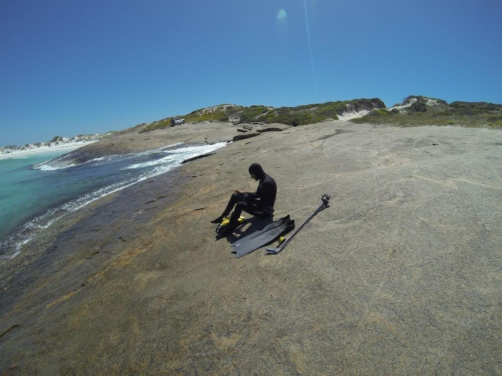 Diving at Israelite Bay