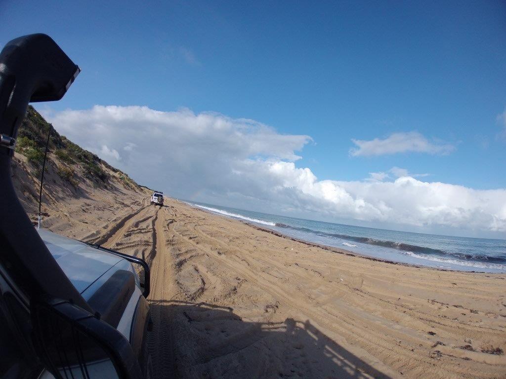 Driving Along Belvidere Beach