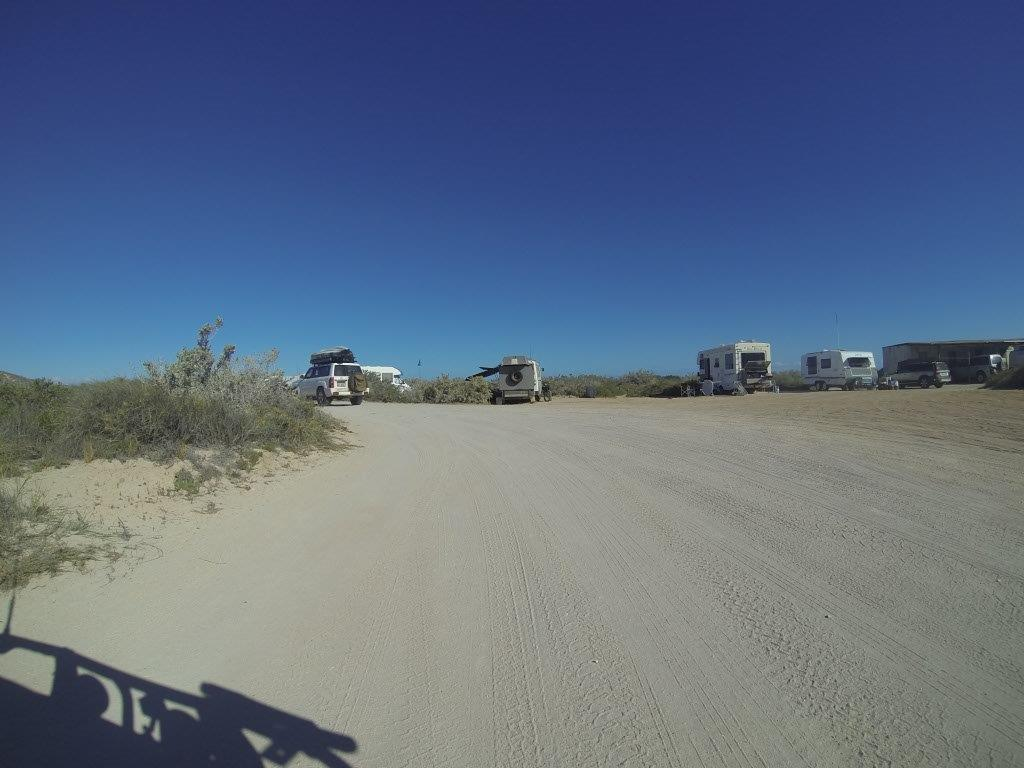 Driving Through Quobba Shire Campsite