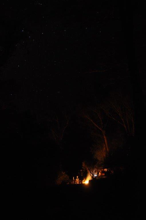 Dwellingup Camping at night
