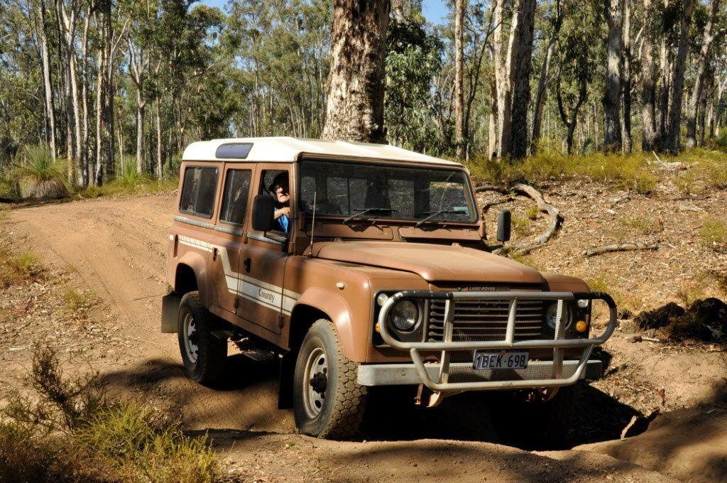 Flexing the Land Rover