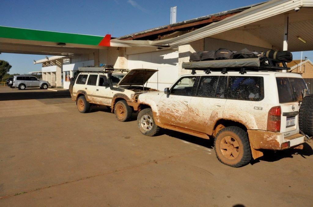 Fueling up at Coolgardie