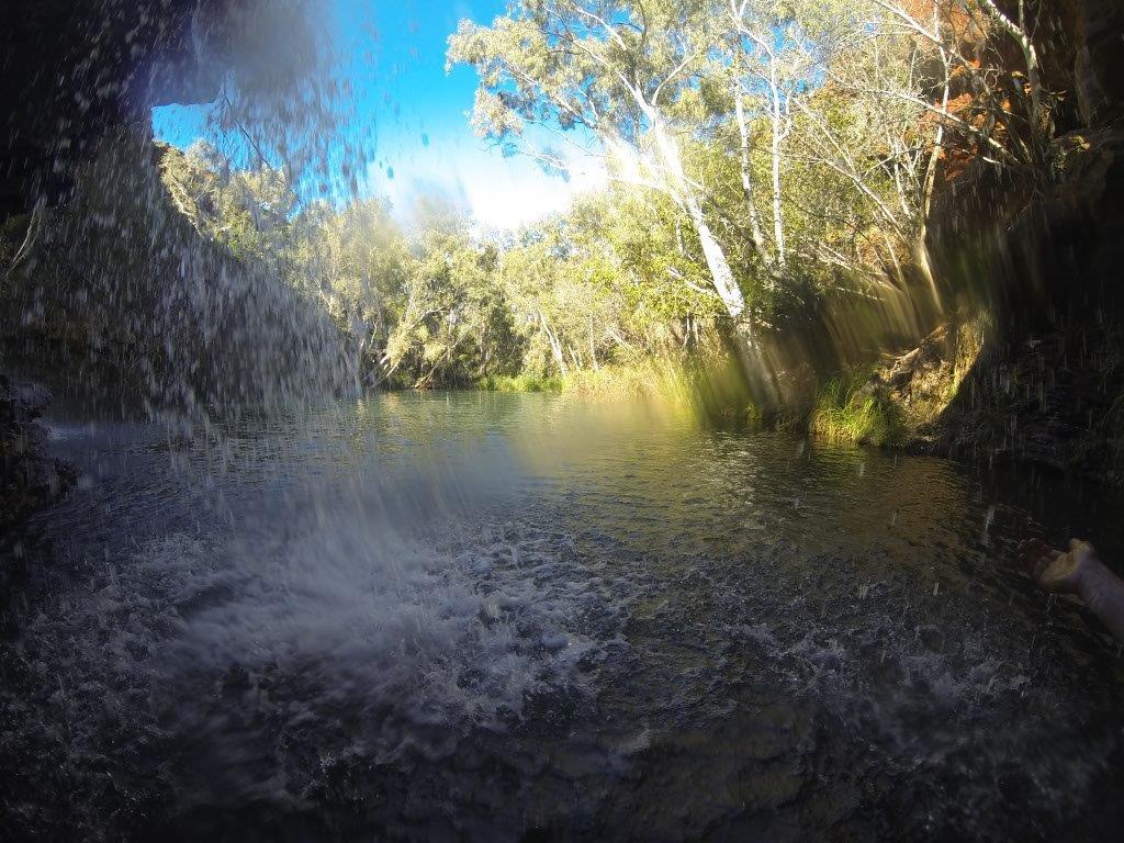 Inside Fern Pool Waterfall