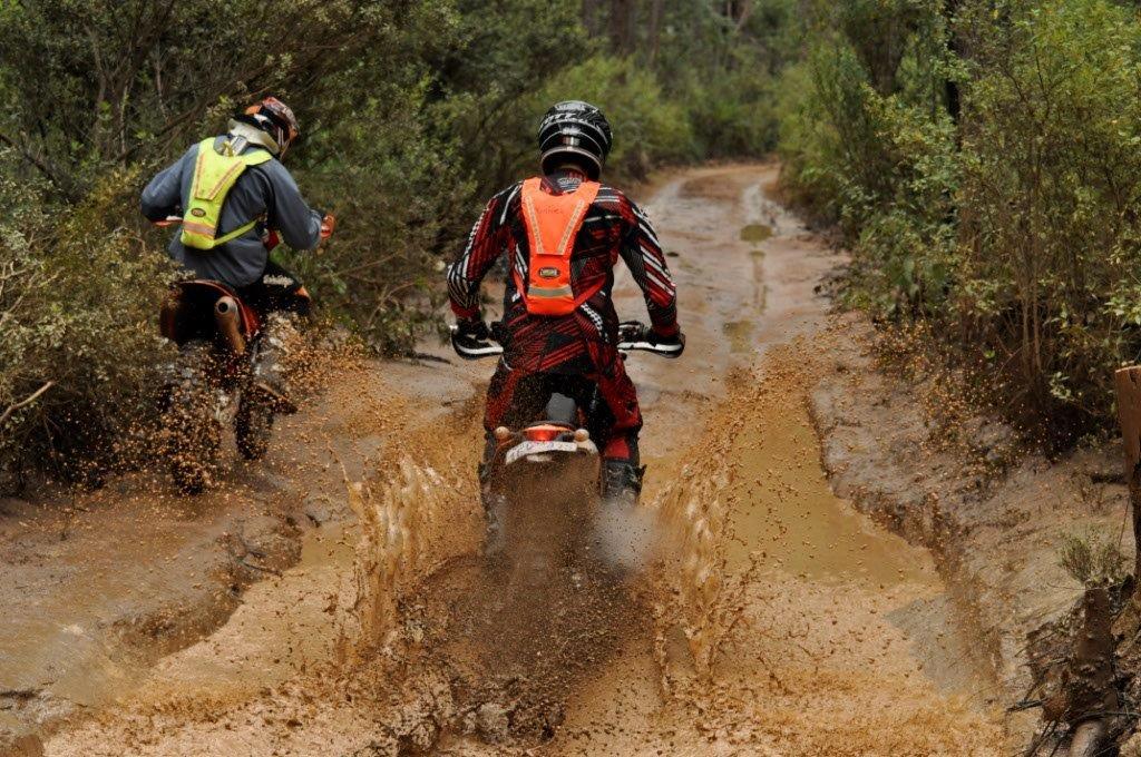 Motorbike Riders on Captain Fawcett