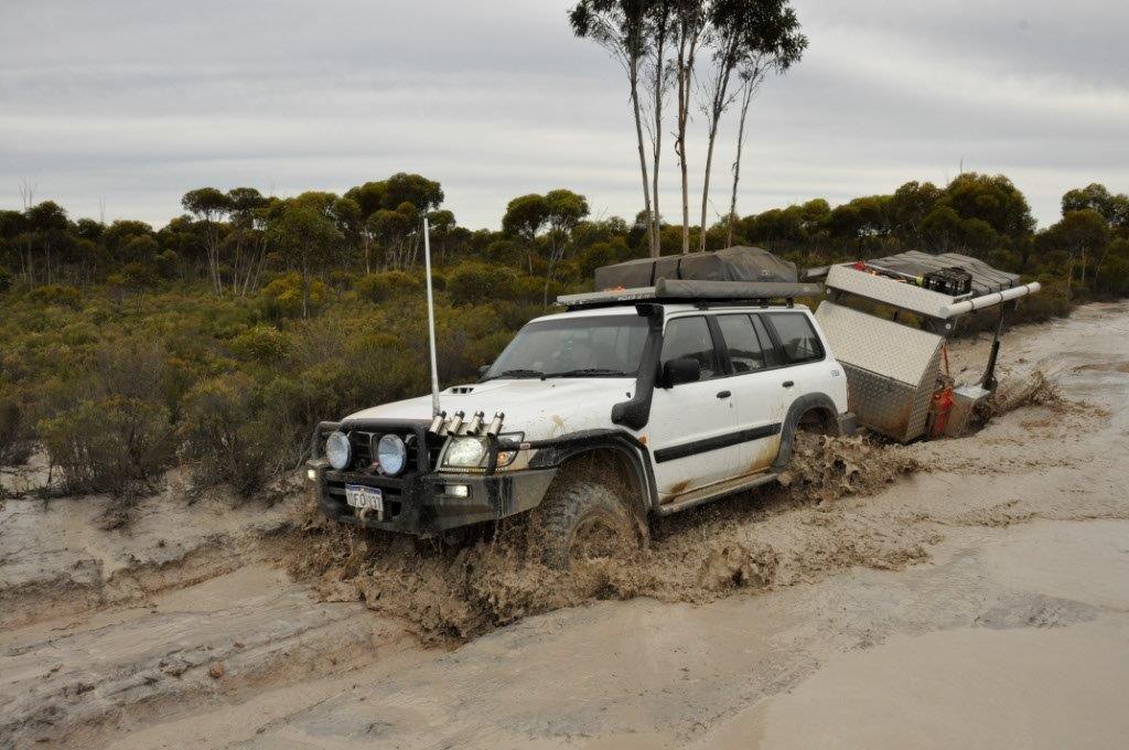 Motorbike Trailer in Mud
