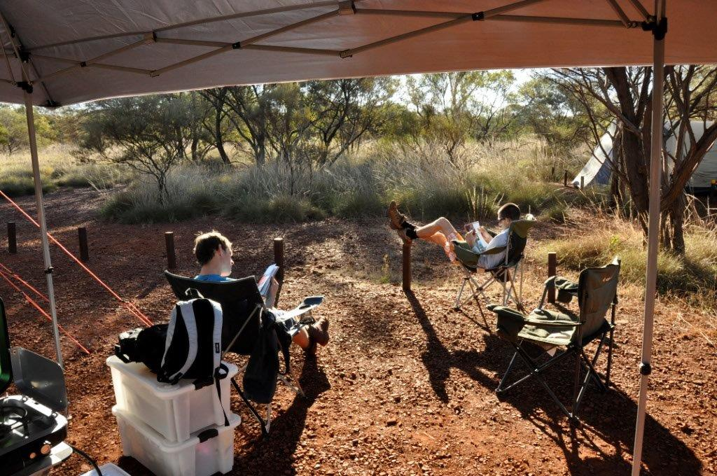 Relaxing at Karijini