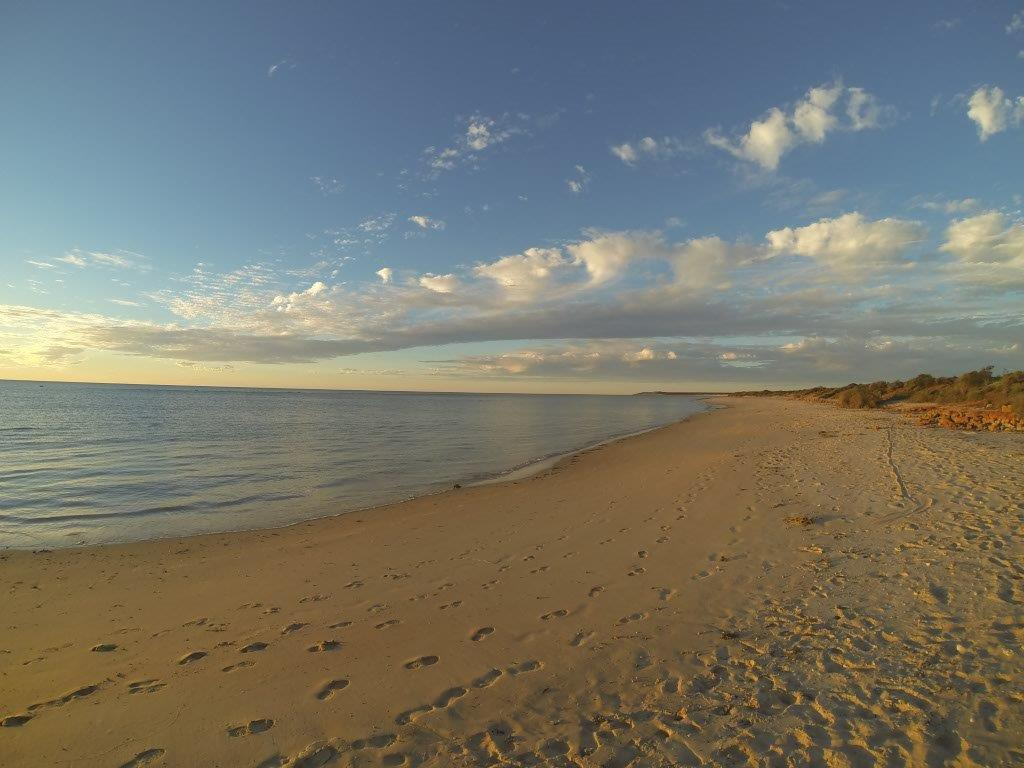 Relaxing at Shark Bay on the Beach