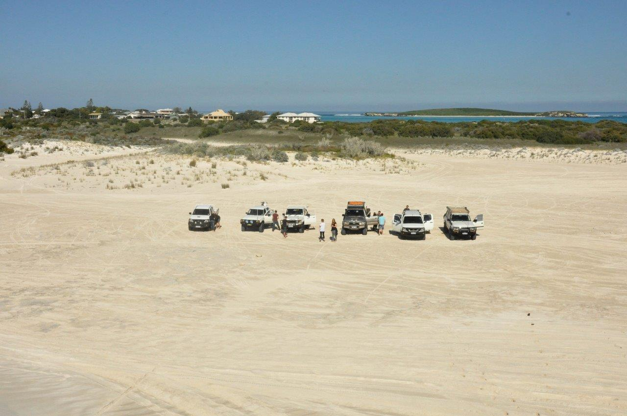 Airing Down at Lancelin Offroad Area