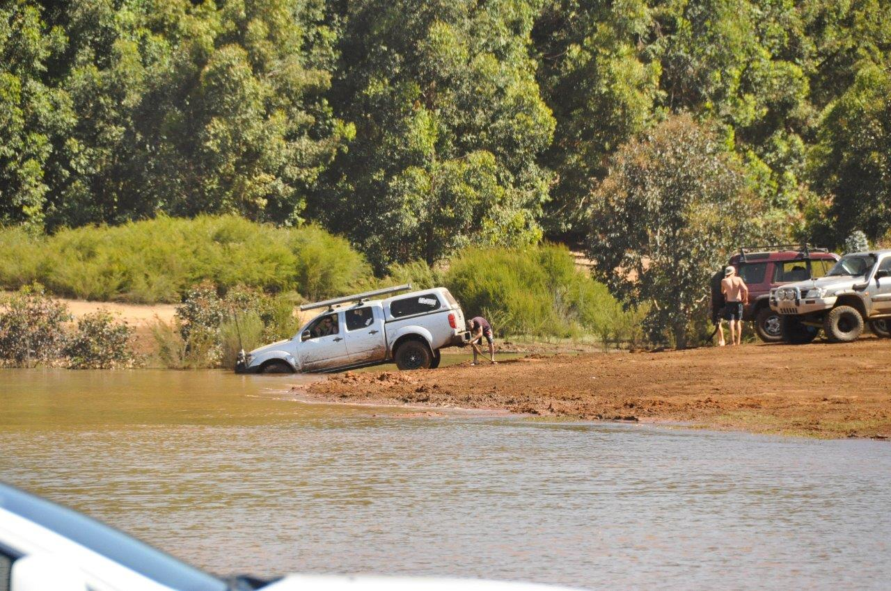 Bogged Navara at Waroona