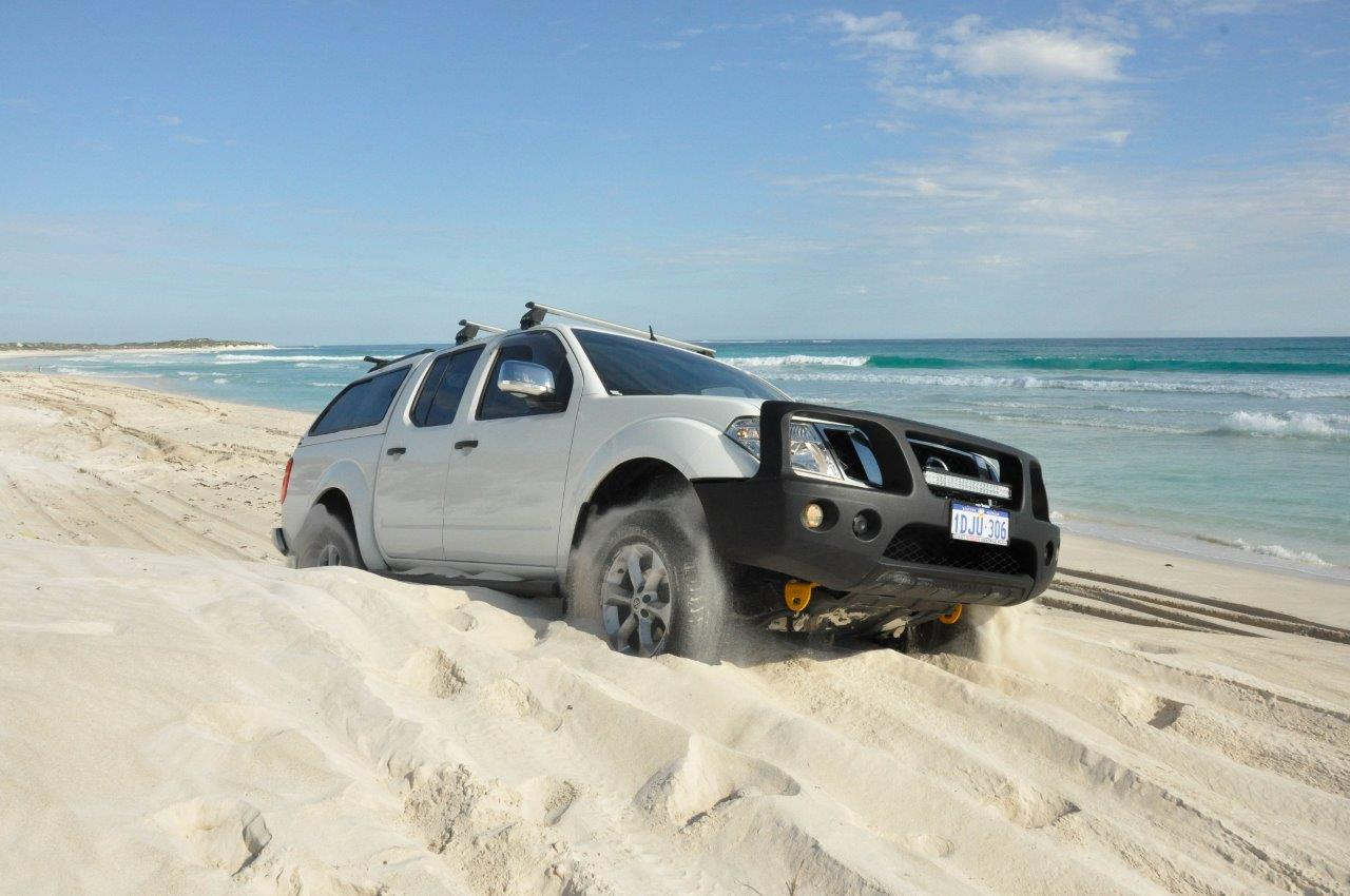 D40 Navara Stuck on the Beach