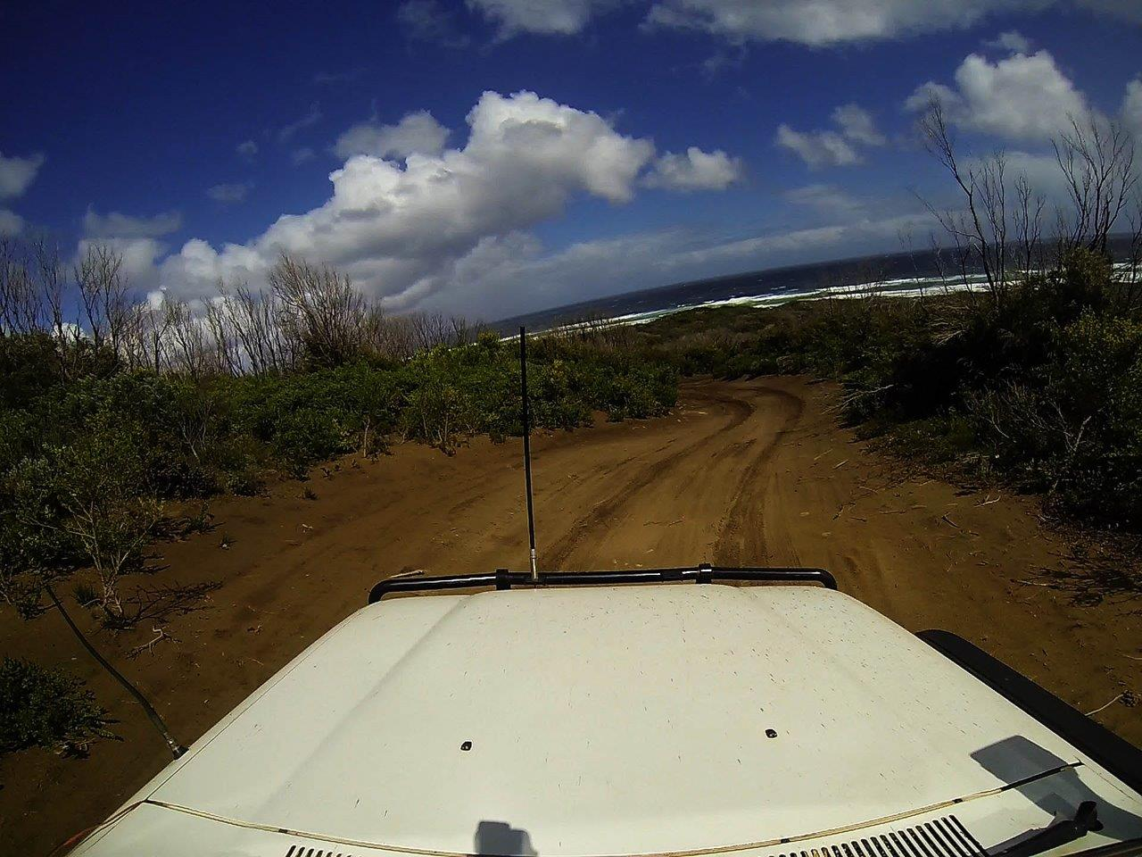 Driving to Lake Jasper by 4wd