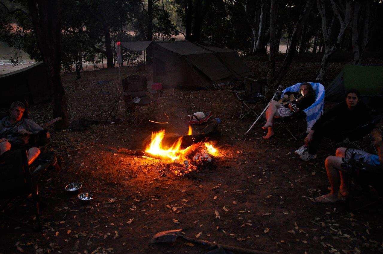 Enjoying a Fire at Waroona