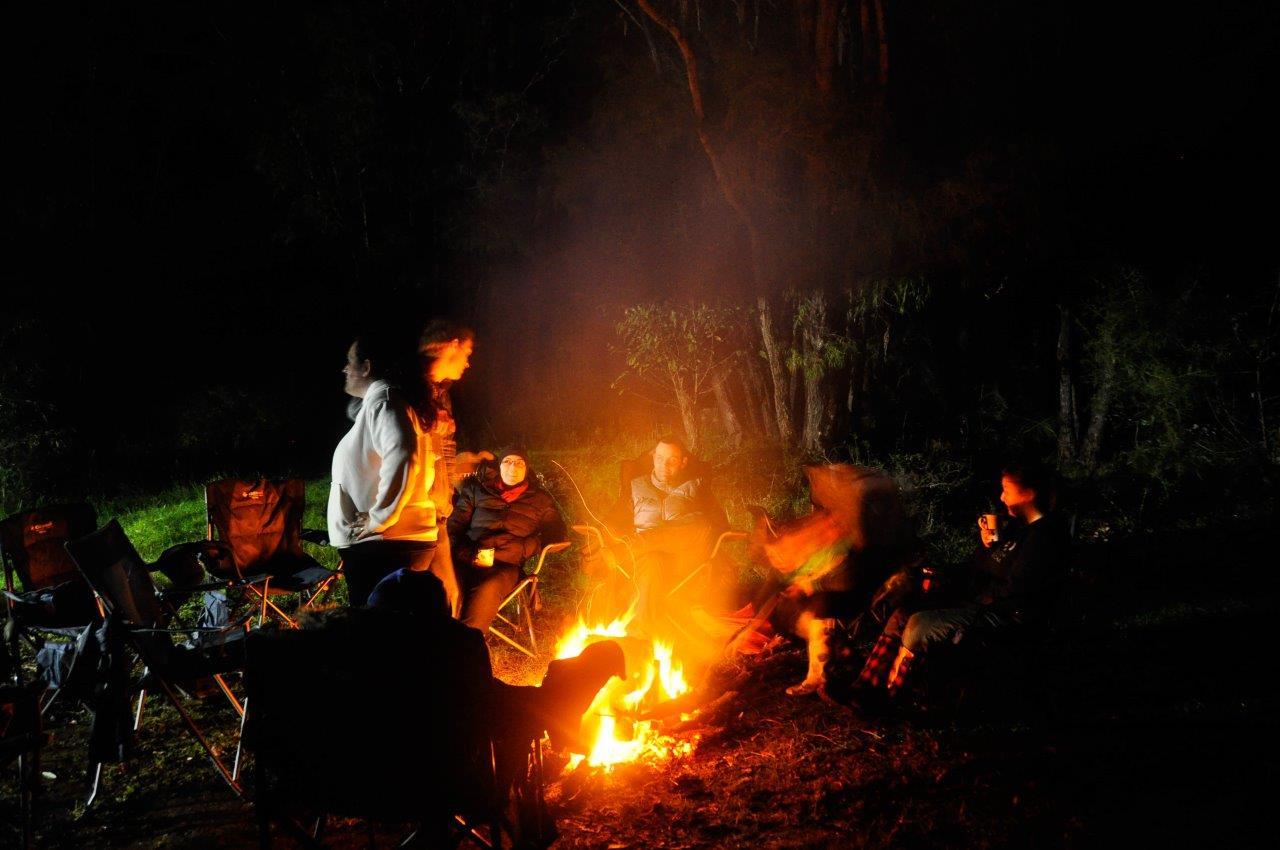 Enjoying a Lovely Fire