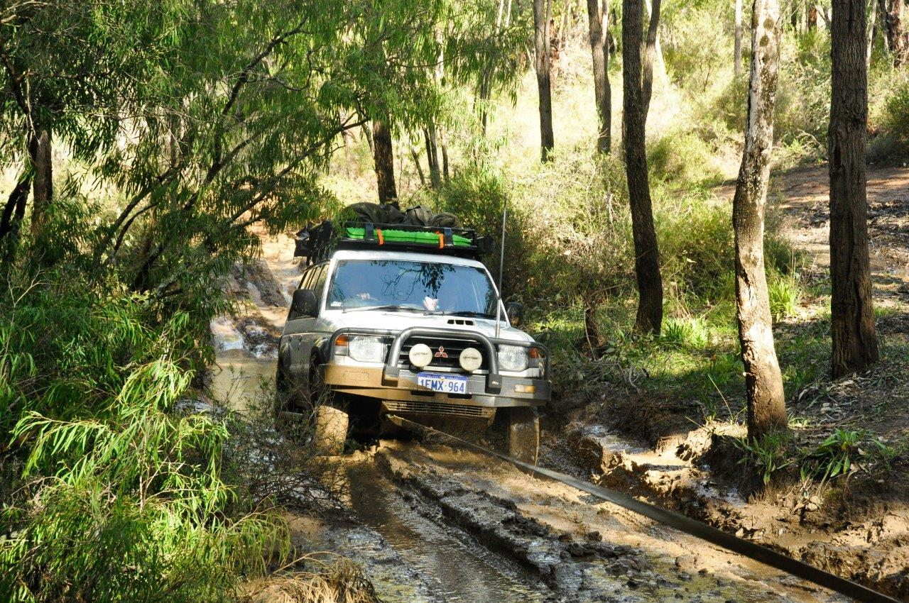 Mud Run in the Pajero