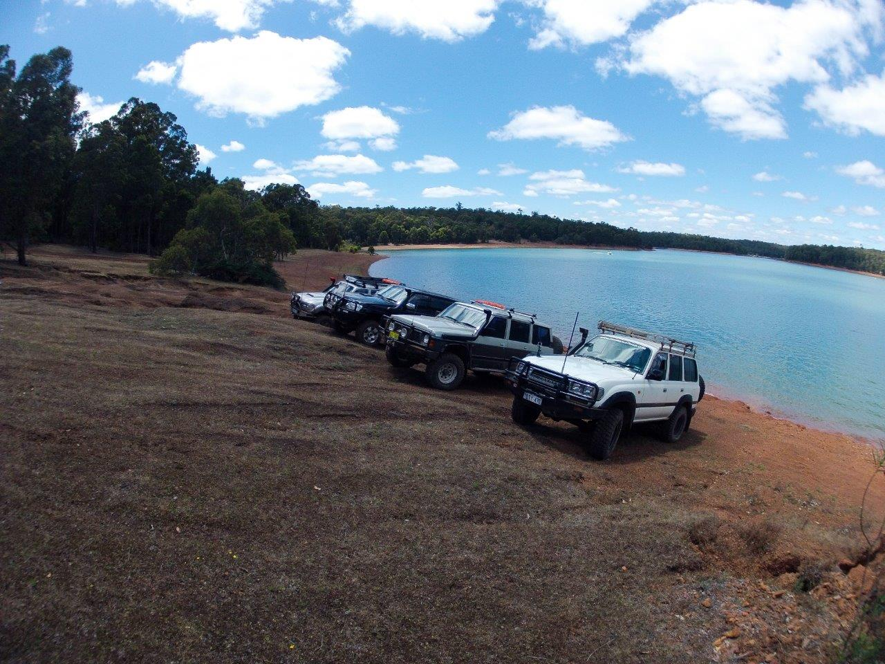 Our 4wds at Waroona