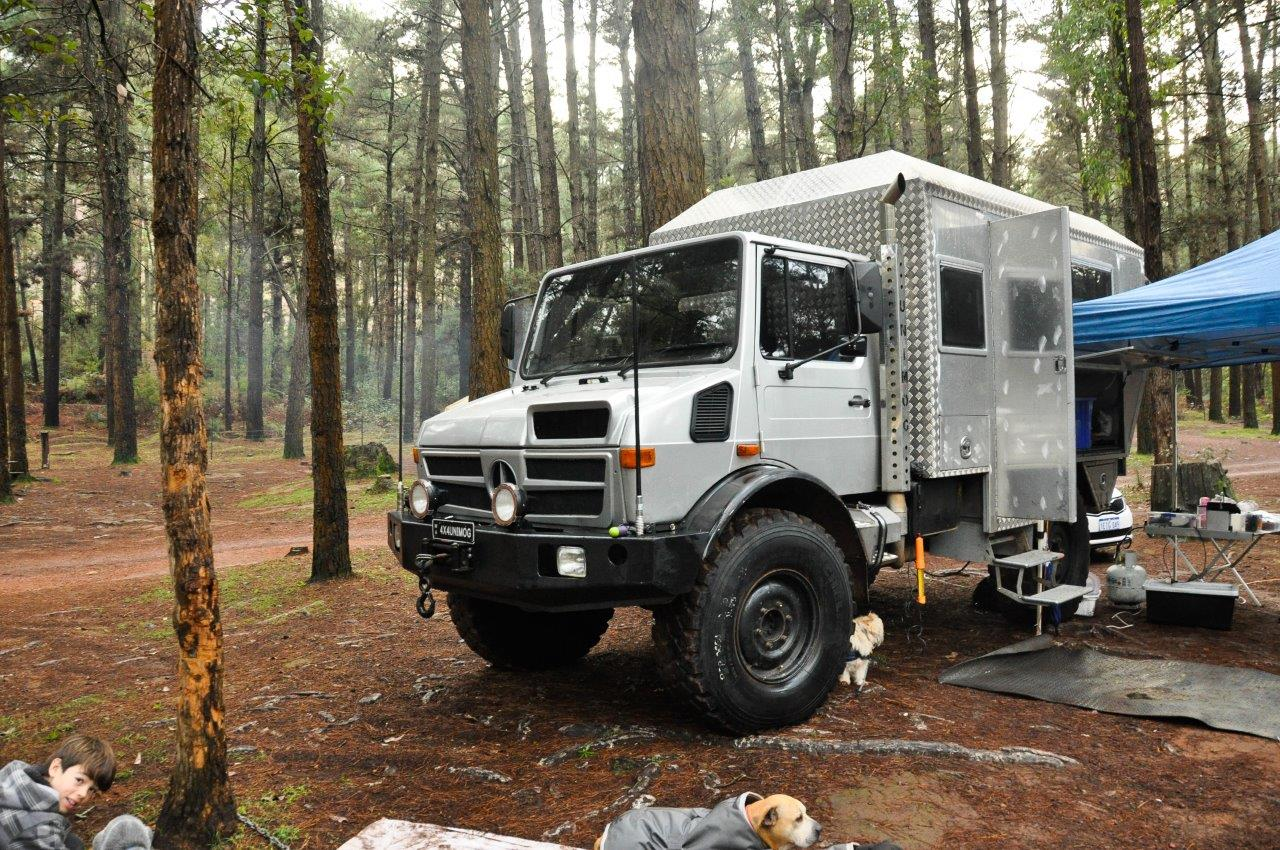 Camping with a Unimog in Dwellingup