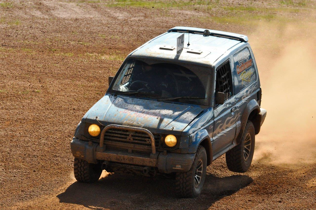 Up and Down for the Pajero at Mogumber