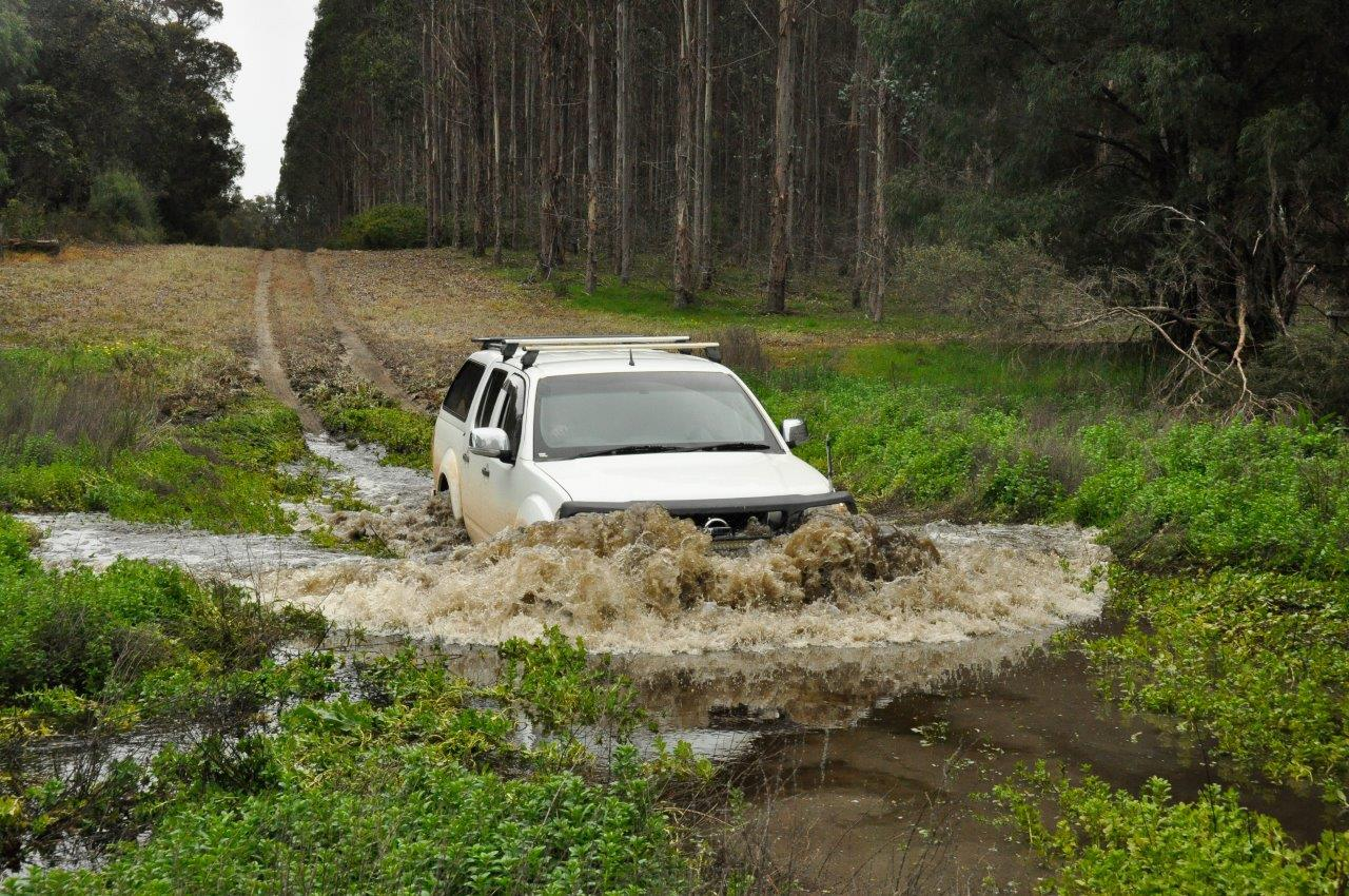 Water Crossing Near the Blackwood River in a Navara