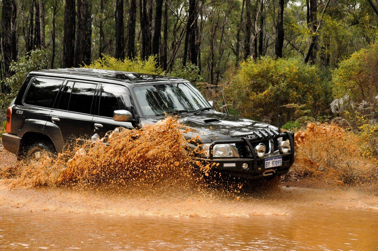 ZD30 Patrol Water Crossing at Dwellingup