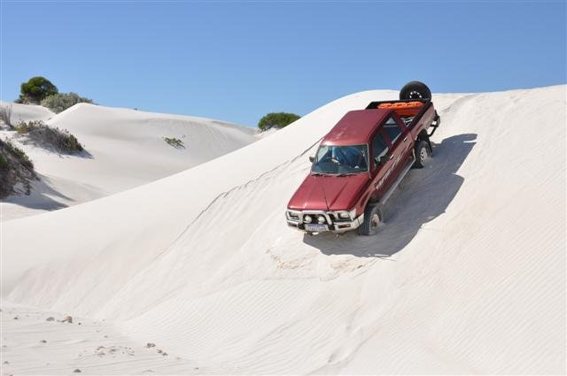 Lancelin Hilux in the dunes