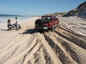 Beach Driving in soft sand