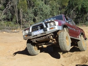 Hilux on a 4WD track
