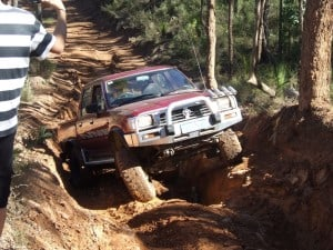 Driving up a hill climb in Mundaring