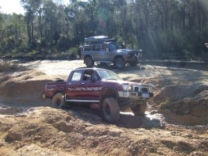 Playing in the mud at Mundaring