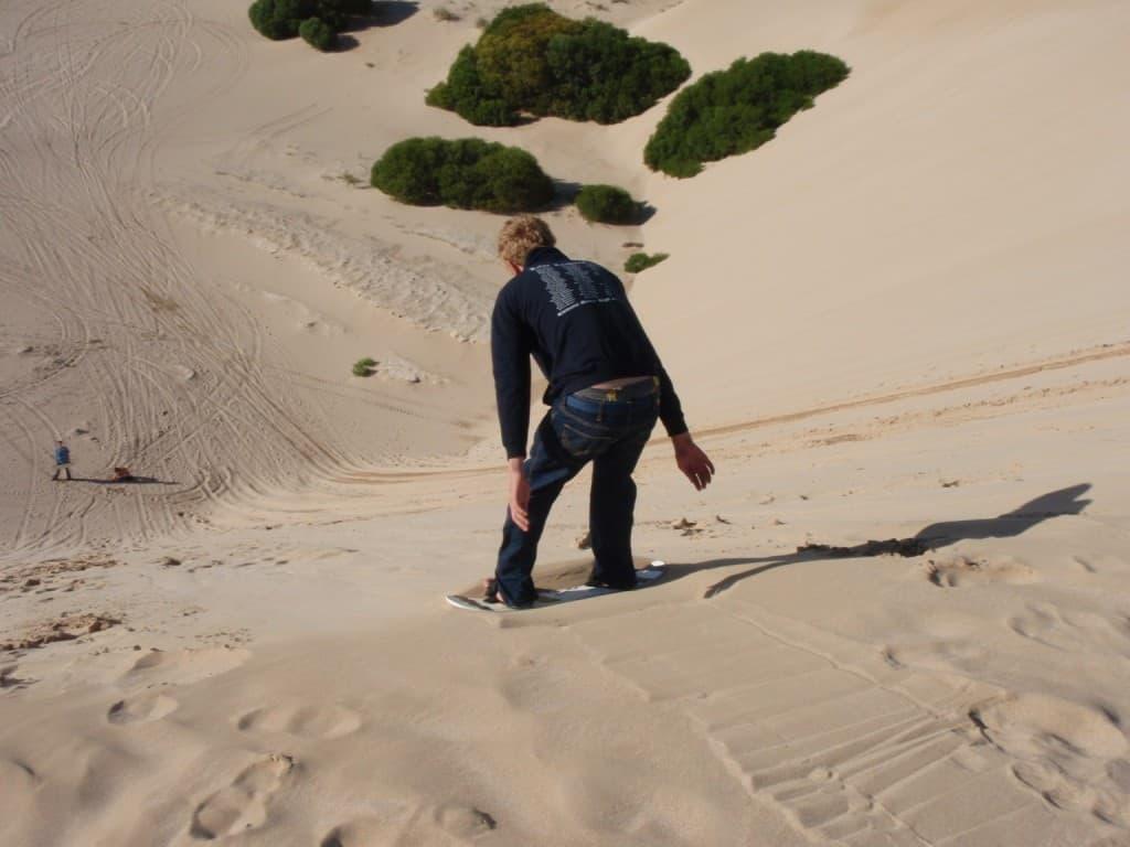 Sandboarding at Kalbarri