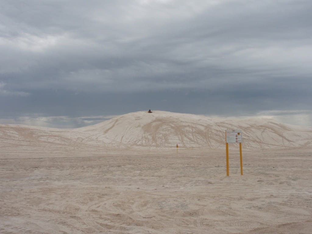 The base of the Sand Dunes