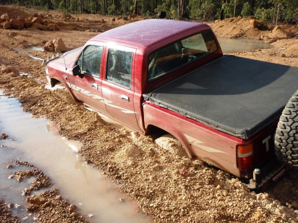 Very stuck in thick mud