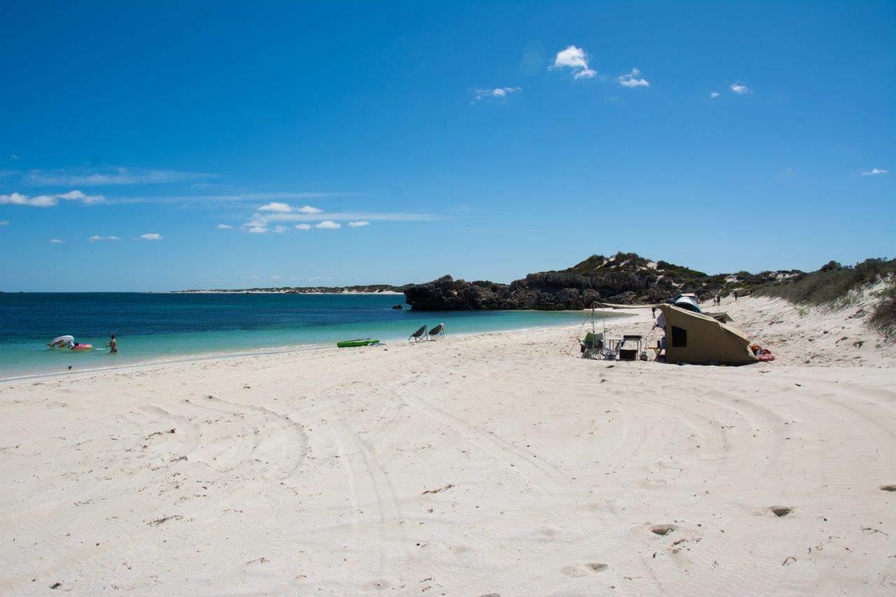 Incredible beach camping