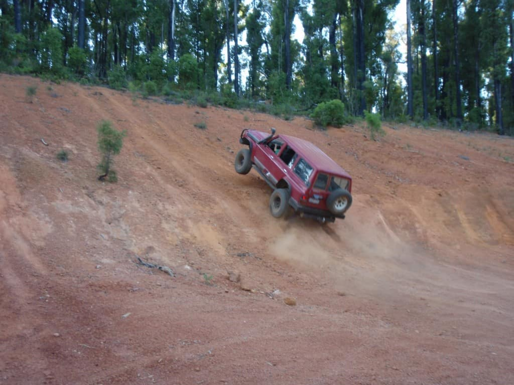 Playing in a 4wd just outside of Dwellingup