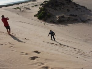Sandboarding at Wagoe