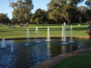 Kings Park water fountains