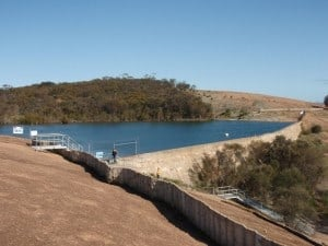The water on top of Wave Rock
