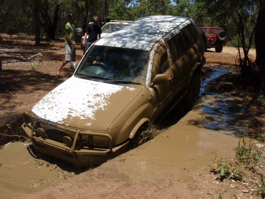 A huge mud puddle