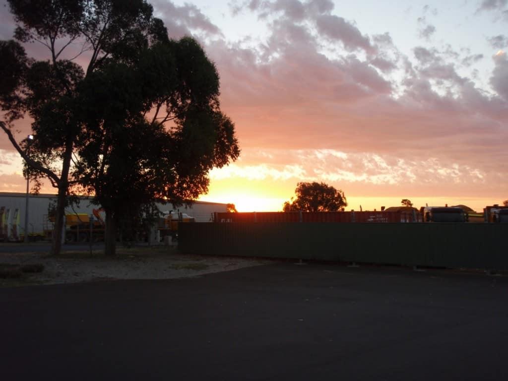 Sunset at Brunswick Junction