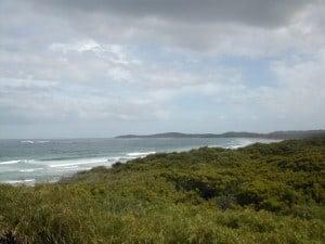 Some of the coast near Peaceful Bay