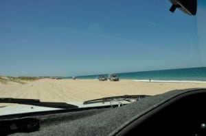 Beach driving at Preston