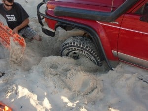 Digging a four wheel drive out