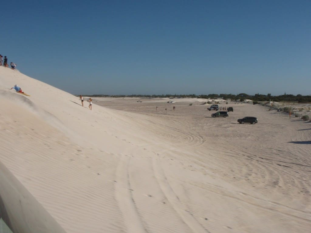 The rocky entrance of the dunes