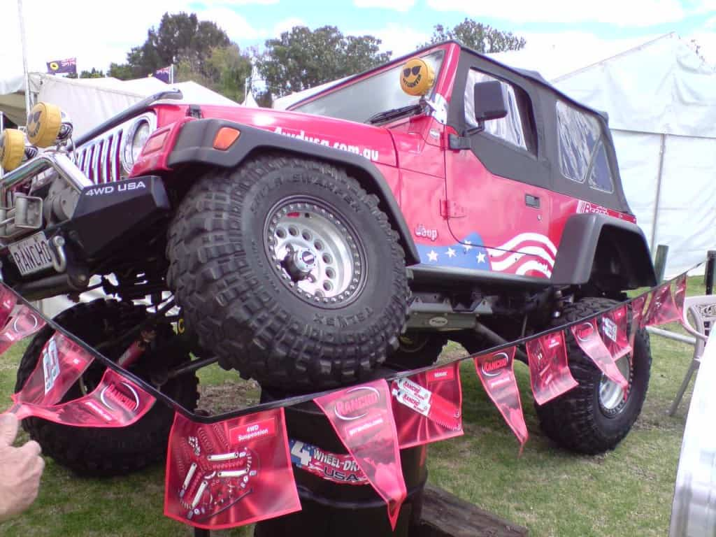 A highly modified Jeep