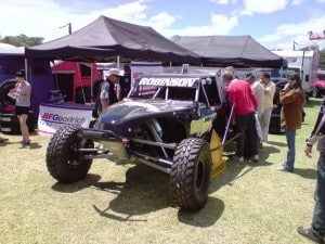 A 4wd buggy with a huge engine